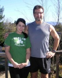 Dana and Ali Di Luvio: Father/Daughter team in training. How AWESOME is this!