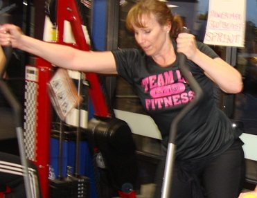Teresa working out